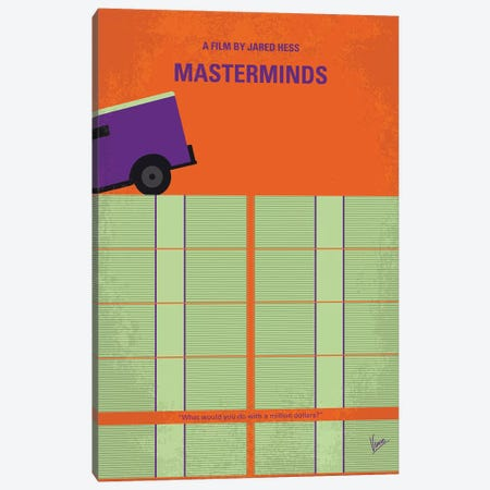 Masterminds Minimal Movie Poster Canvas Print #CKG916} by Chungkong Canvas Artwork