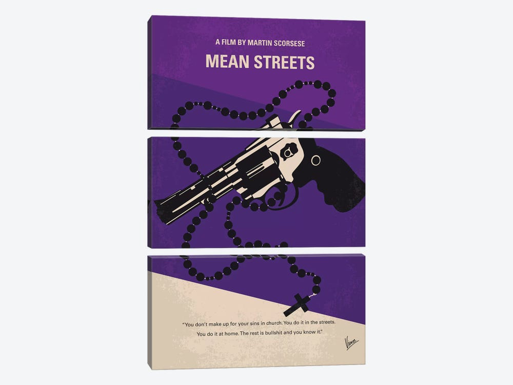 Mean Streets Minimal Movie Poster by Chungkong 3-piece Art Print
