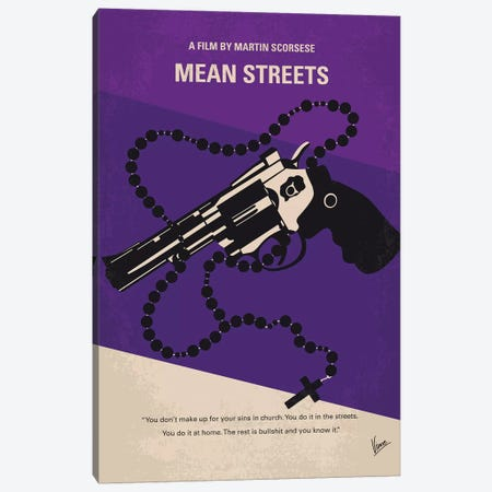 Mean Streets Minimal Movie Poster Canvas Print #CKG917} by Chungkong Canvas Artwork
