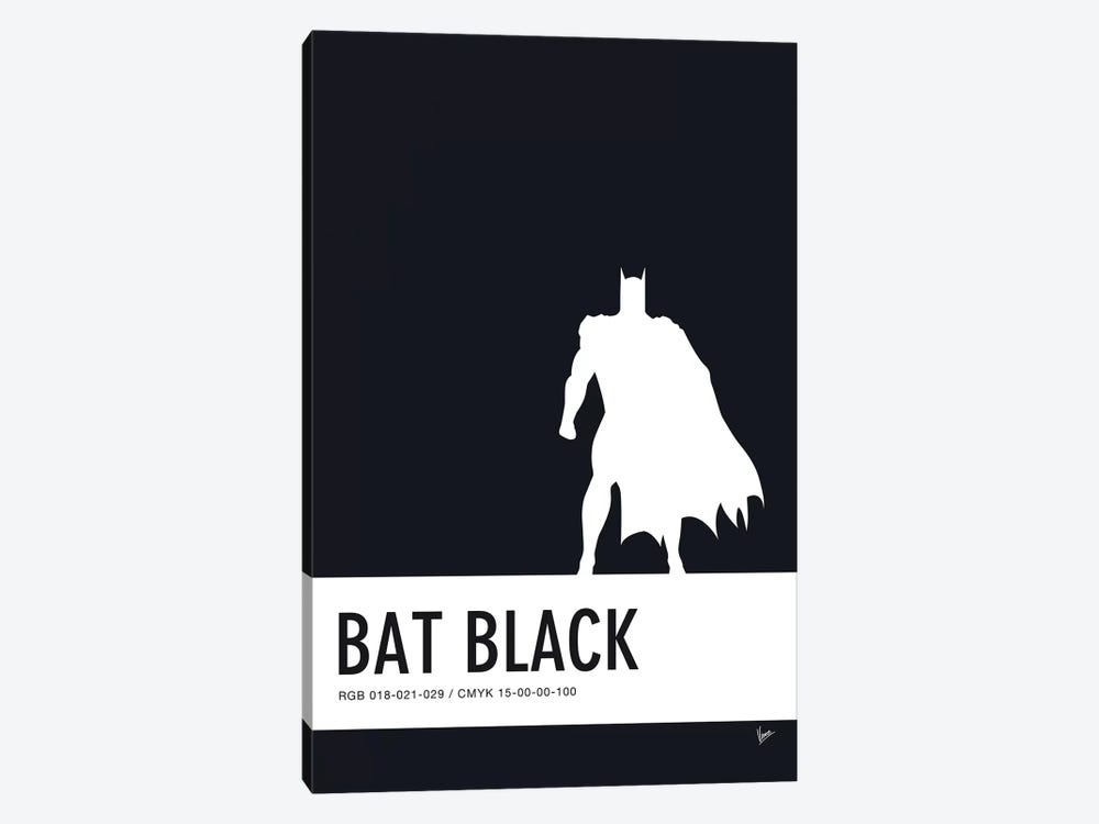Minimal Colorcode Poster Batman 1-piece Canvas Wall Art