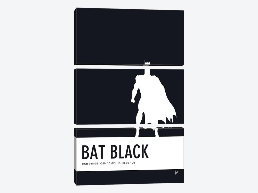 Minimal Colorcode Poster Batman 3-piece Canvas Wall Art