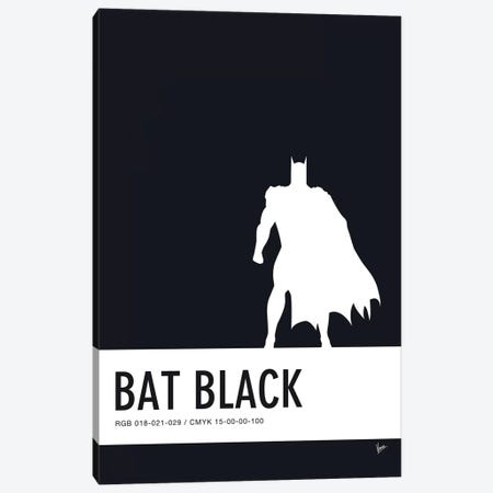 Minimal Colorcode Poster Batman Canvas Print #CKG918} by Chungkong Canvas Art Print