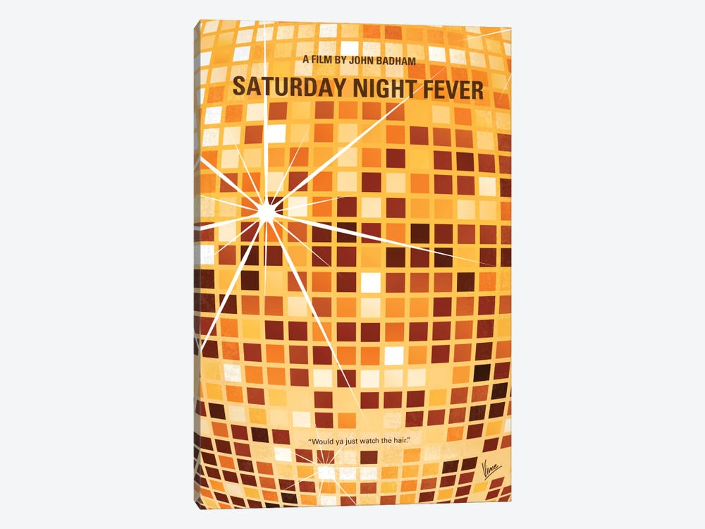 Saturday Night Fever Minimal Movie Poster by Chungkong 1-piece Art Print