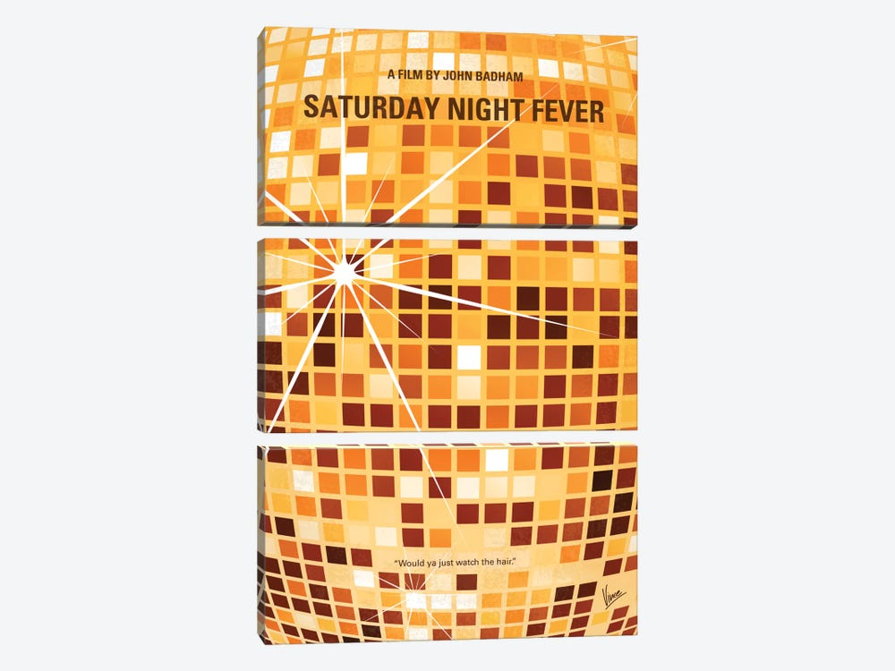 Saturday Night Fever Minimal Movie Poster by Chungkong 3-piece Art Print