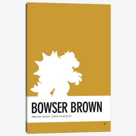 Minimal Colorcode Poster Bowser Canvas Print #CKG920} by Chungkong Canvas Artwork