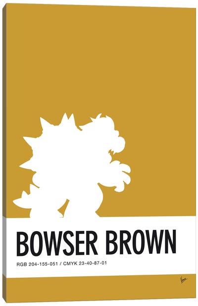 Minimal Colorcode Poster Bowser Canvas Art Print