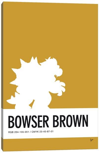 Minimal Colorcode Poster Bowser Canvas Art Print