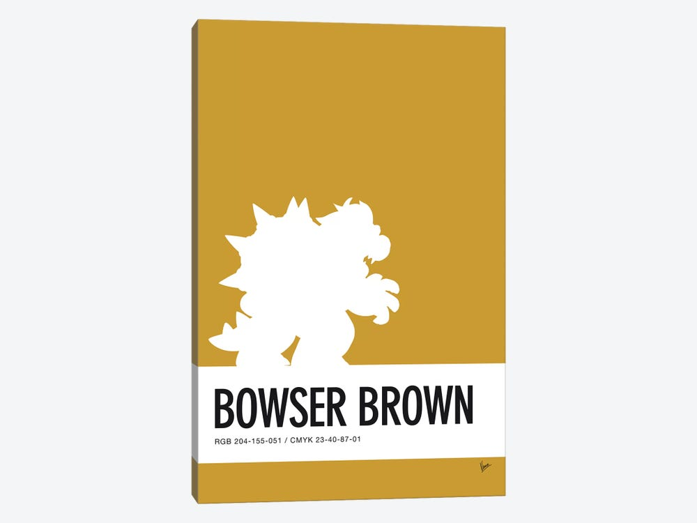 Minimal Colorcode Poster Bowser by Chungkong 1-piece Canvas Print