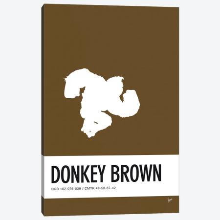 Minimal Colorcode Poster Donkey Kong Canvas Print #CKG926} by Chungkong Art Print