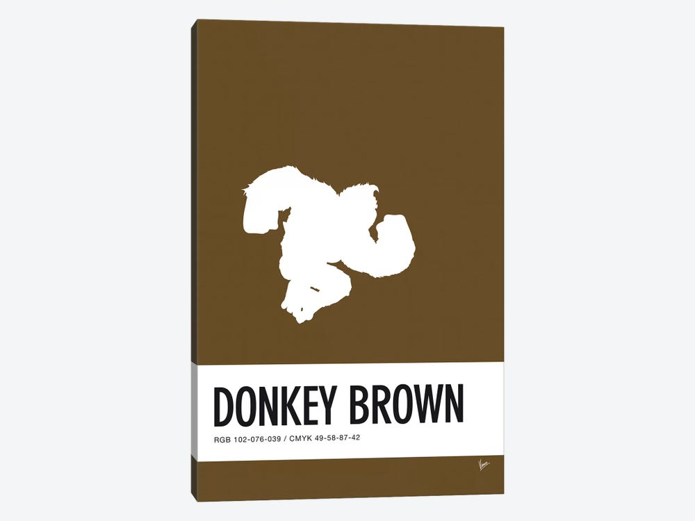 Minimal Colorcode Poster Donkey Kong by Chungkong 1-piece Canvas Art Print