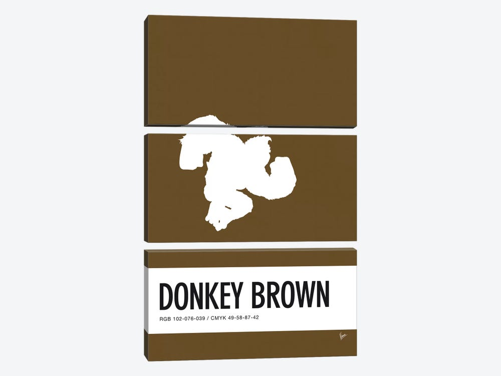 Minimal Colorcode Poster Donkey Kong by Chungkong 3-piece Canvas Art Print