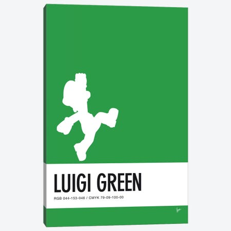 Minimal Colorcode Poster Luigi Canvas Print #CKG932} by Chungkong Canvas Art Print