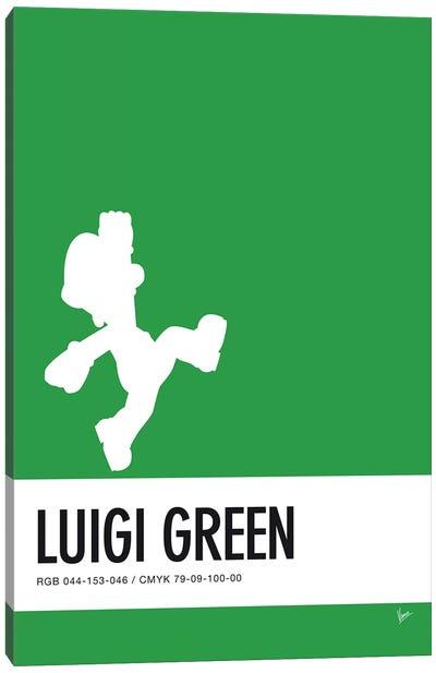 Minimal Colorcode Poster Luigi Canvas Art Print