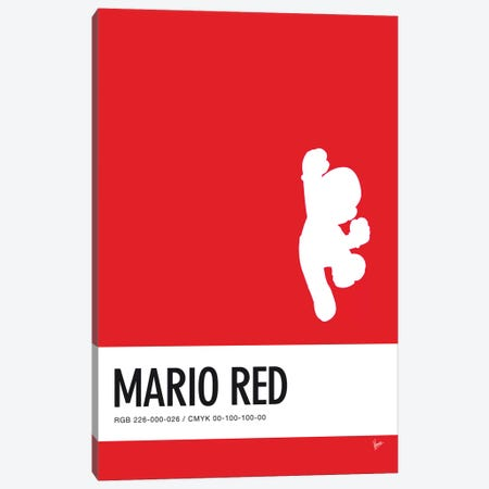 Minimal Colorcode Poster Mario Canvas Print #CKG934} by Chungkong Canvas Wall Art