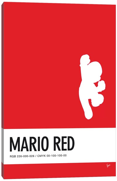 Minimal Colorcode Poster Mario Canvas Art Print