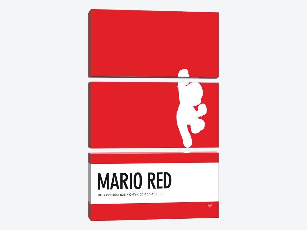 Minimal Colorcode Poster Mario by Chungkong 3-piece Canvas Art