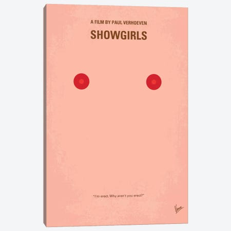 Showgirls Minimal Movie Poster Canvas Print #CKG93} by Chungkong Canvas Wall Art