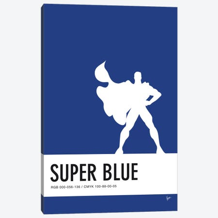 Minimal Colorcode Poster Superman Canvas Print #CKG947} by Chungkong Art Print