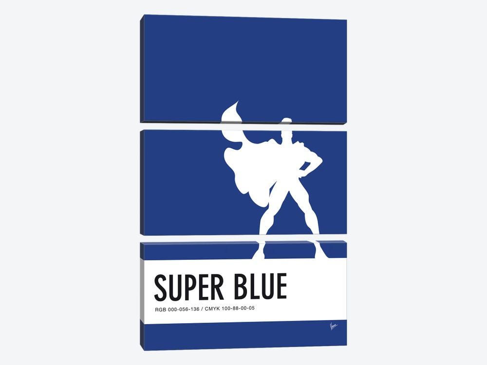 Minimal Colorcode Poster Superman by Chungkong 3-piece Canvas Artwork