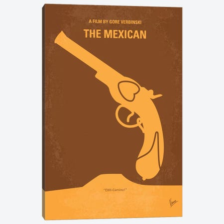 The Mexican Minimal Movie Poster Canvas Print #CKG94} by Chungkong Canvas Print