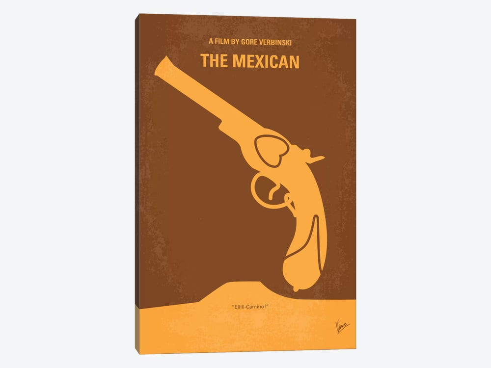 The Mexican Minimal Movie Poster by Chungkong 1-piece Canvas Wall Art