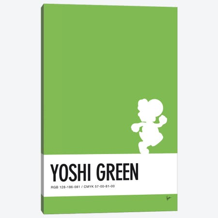 Minimal Colorcode Poster Yoshi Canvas Print #CKG955} by Chungkong Canvas Wall Art