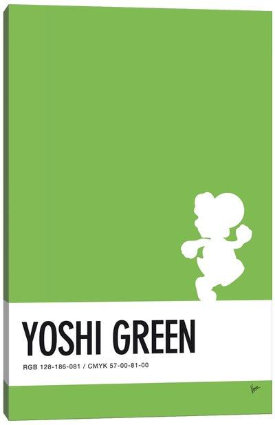 Minimal Colorcode Poster Yoshi Canvas Art Print