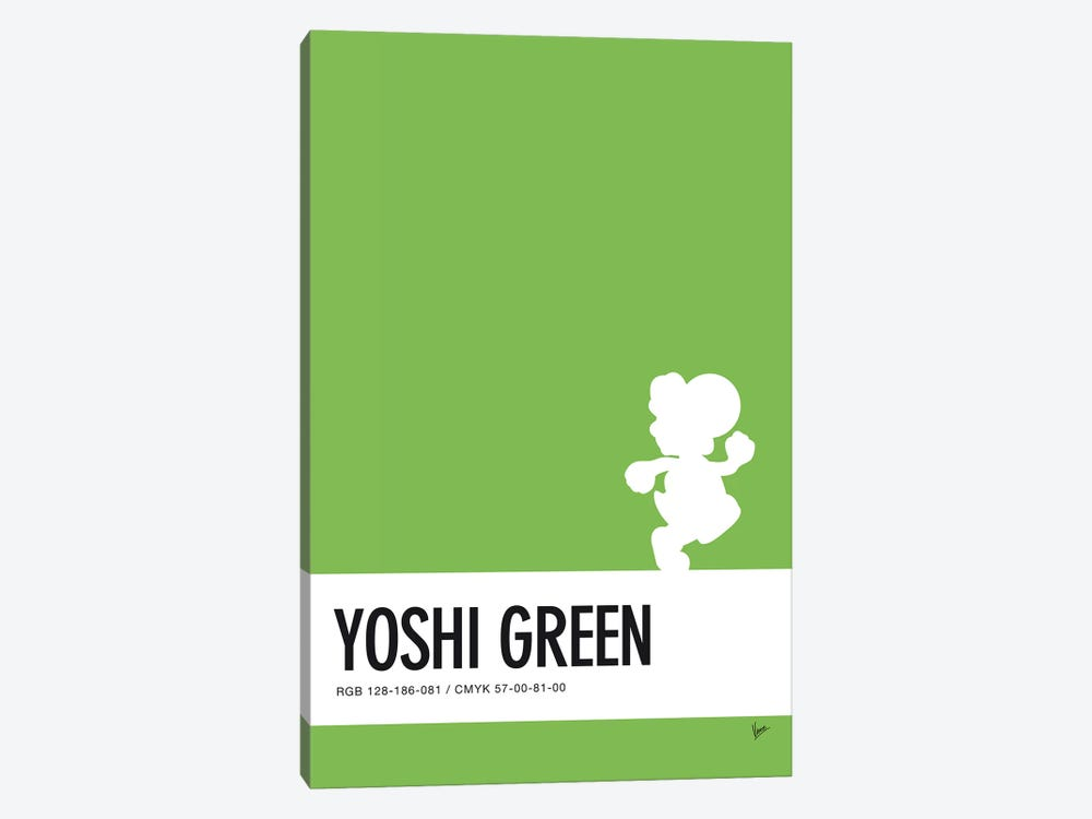 Minimal Colorcode Poster Yoshi by Chungkong 1-piece Canvas Art Print
