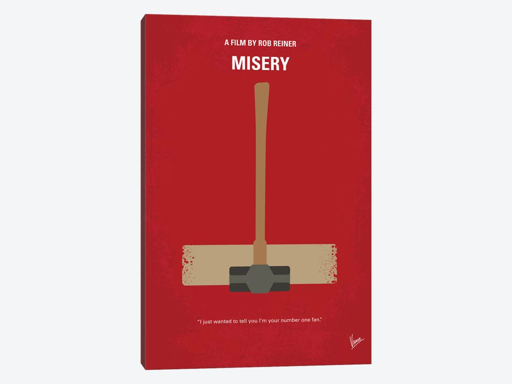 Misery Minimal Movie Poster by Chungkong 1-piece Canvas Wall Art