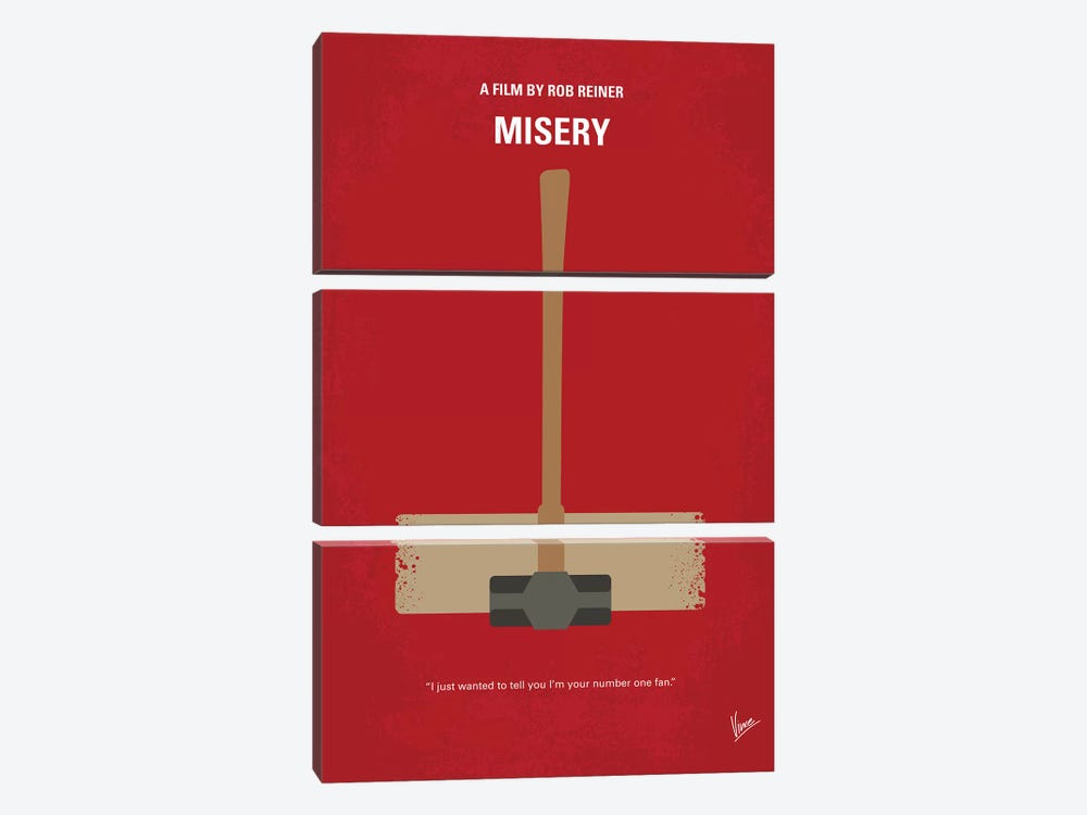 Misery Minimal Movie Poster by Chungkong 3-piece Canvas Wall Art