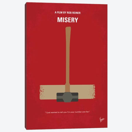 Misery Minimal Movie Poster Canvas Print #CKG956} by Chungkong Canvas Wall Art