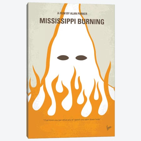 Mississippi Burning Minimal Movie Poster Canvas Print #CKG957} by Chungkong Canvas Art