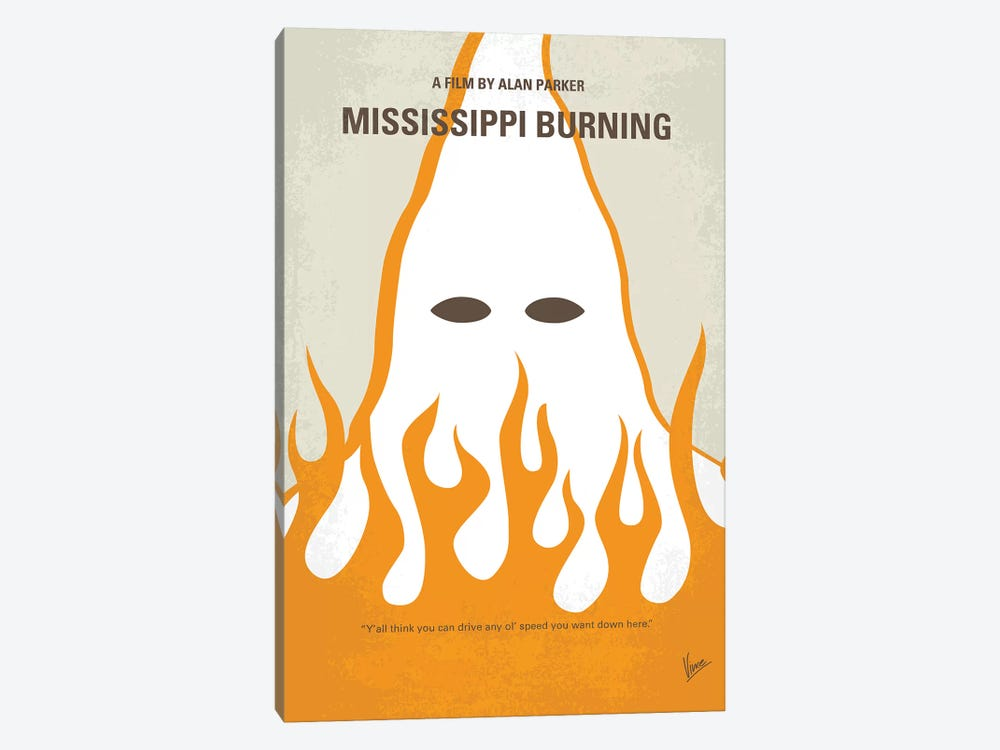 Mississippi Burning Minimal Movie Poster by Chungkong 1-piece Art Print