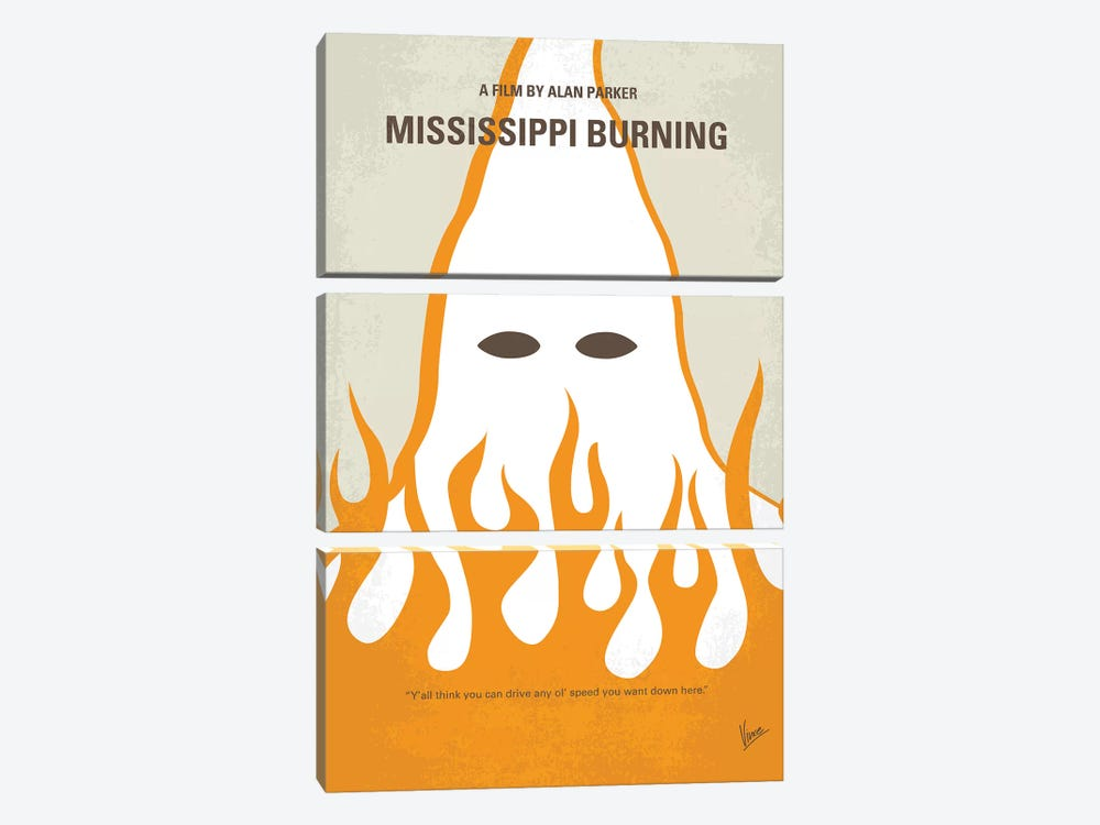 Mississippi Burning Minimal Movie Poster by Chungkong 3-piece Art Print