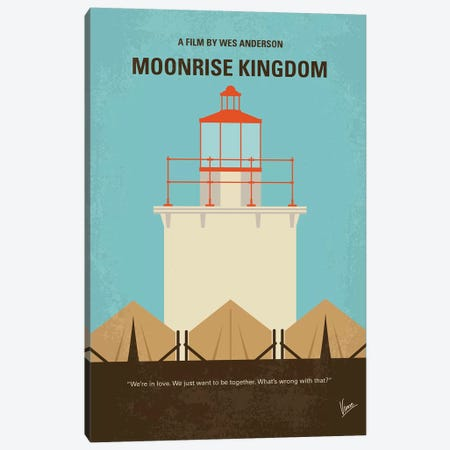 Moonrise Kingdom Minimal Movie Poster Canvas Print #CKG958} by Chungkong Canvas Art Print