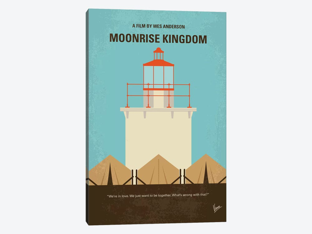 Moonrise Kingdom Minimal Movie Poster 1-piece Canvas Artwork