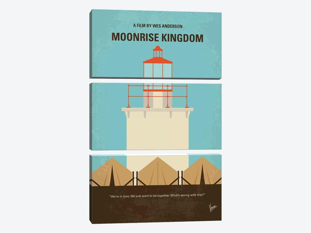Moonrise Kingdom Minimal Movie Poster by Chungkong 3-piece Canvas Artwork