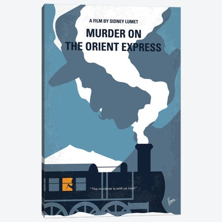 Murder On The Orient Express Minimal Movie Poster Canvas Print #CKG959} by Chungkong Art Print