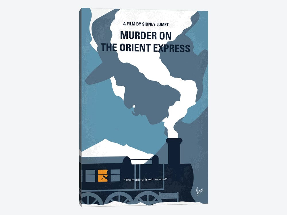 Murder On The Orient Express Minimal Movie Poster by Chungkong 1-piece Canvas Print
