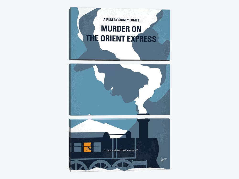 Murder On The Orient Express Minimal Movie Poster by Chungkong 3-piece Art Print