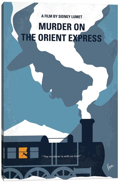 Murder On The Orient Express Minimal Movie Poster Canvas Art Print