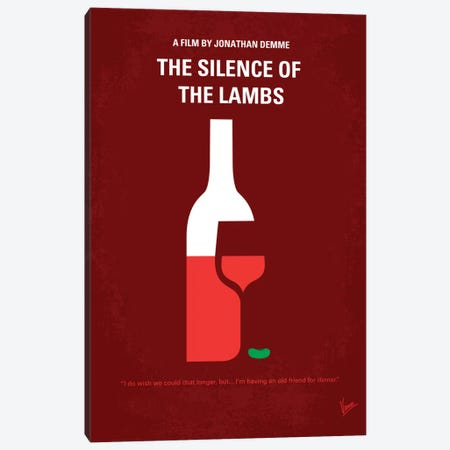 Silence Of The Lambs Minimal Movie Poster Canvas Print #CKG95} by Chungkong Art Print