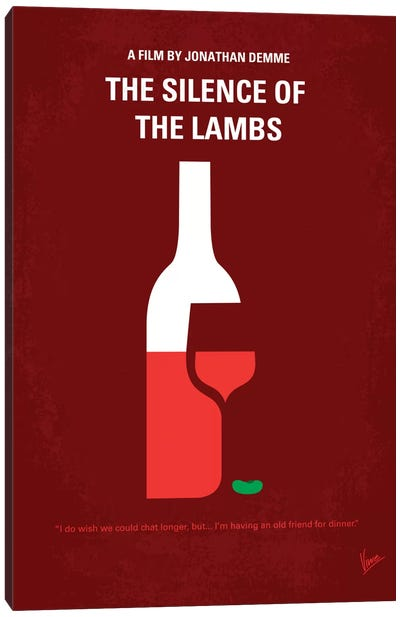 Silence Of The Lambs Minimal Movie Poster Canvas Print #CKG95