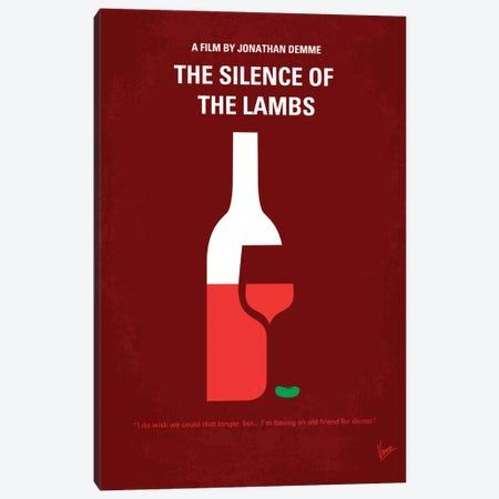 Silence Of The Lambs Minimal Movie Poster Canvas Print #CKG95} by Chungkong Art Print