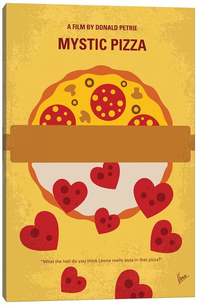 Mystic Pizza Minimal Movie Poster Canvas Art Print