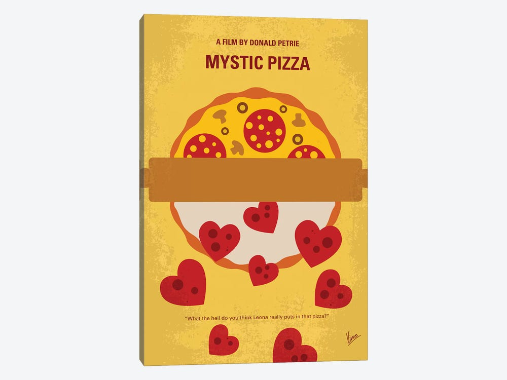 Mystic Pizza Minimal Movie Poster by Chungkong 1-piece Canvas Print