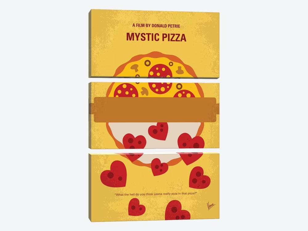 Mystic Pizza Minimal Movie Poster by Chungkong 3-piece Art Print