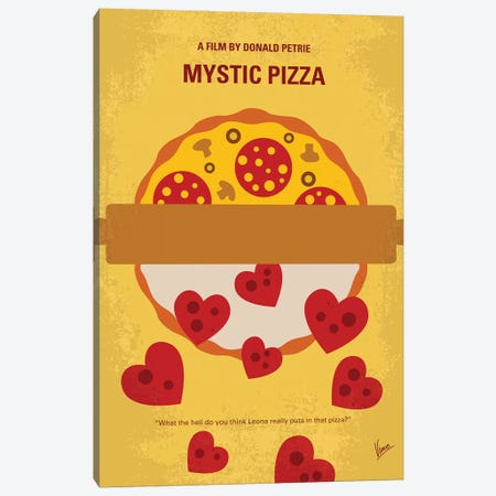 Mystic Pizza Minimal Movie Poster Canvas Print #CKG960} by Chungkong Canvas Artwork