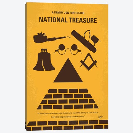 National Treasure Minimal Movie Poster Canvas Print #CKG961} by Chungkong Canvas Artwork