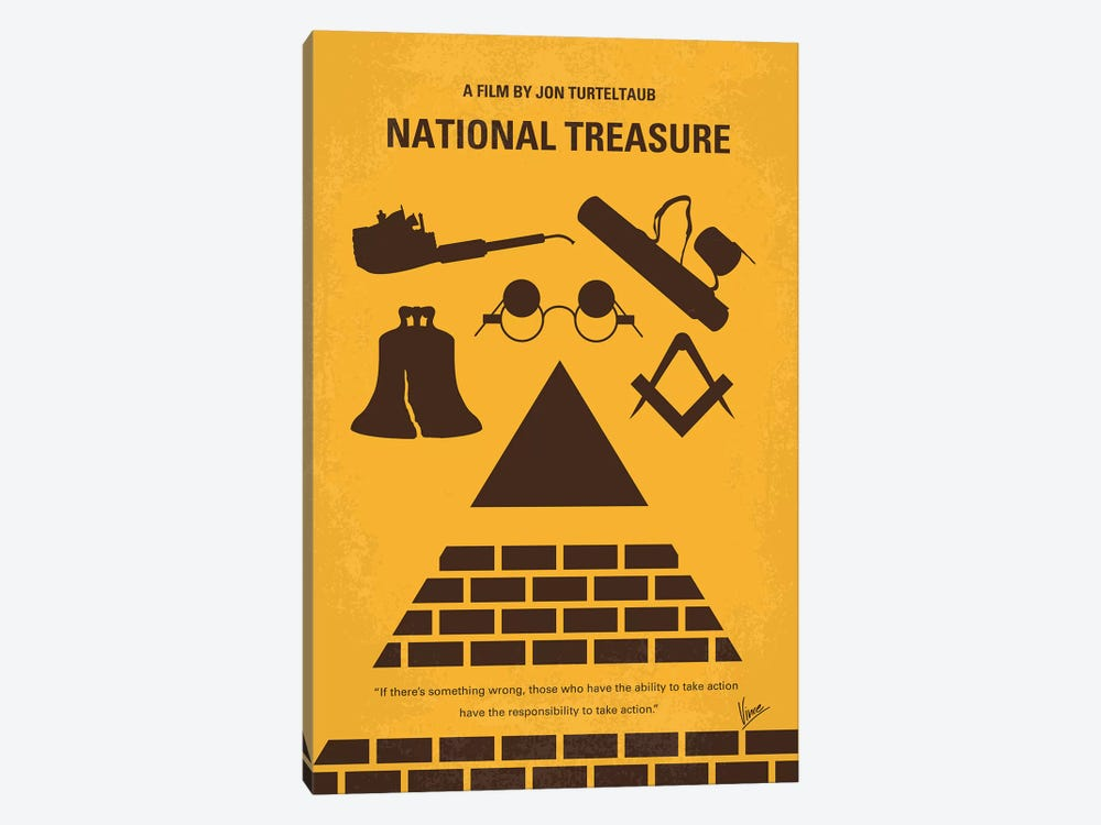 National Treasure Minimal Movie Poster by Chungkong 1-piece Canvas Artwork